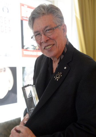"Thomas King - Winner of the RBC Taylor Prize for Literary Non-Fiction, 2014, for his book ""The Inconvenient Indian"" (CNW Group/RBC Taylor Prize)"