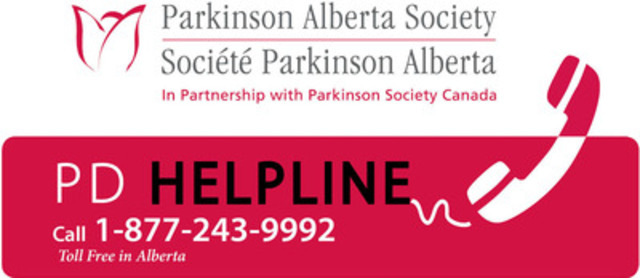 PD Helpline Logo (CNW Group/Parkinson Alberta Society)