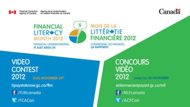 Les gagnants seront annoncés d'ici le 14 décembre sur le site Web de l'ACFC sinformercestpayant.gc.ca (Groupe CNW/Agence de la consommation en matière financière du Canada)
