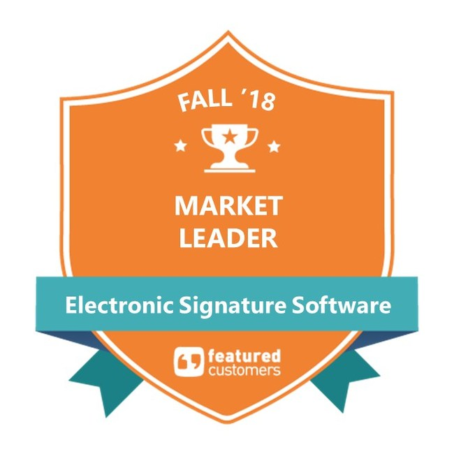 AssureSign designated a Fall 2018 Market Leader by leading consumer review agency, FeaturedCustomers