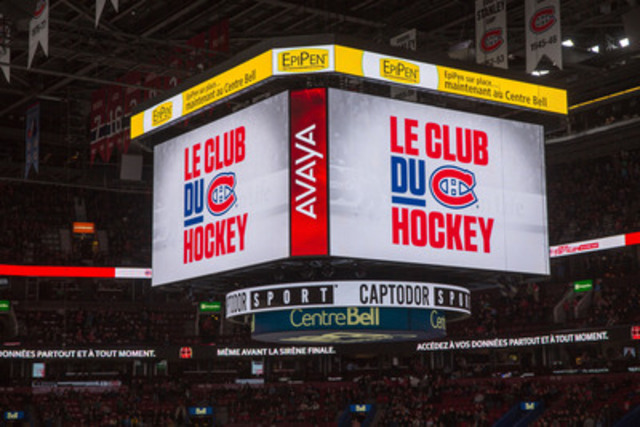 Pfizer Canada Inc. and the Montreal Bell Centre announce that EpiPen(R) emergency kits are now available at the Bell Centre. (CNW Group/Pfizer Canada Inc.)