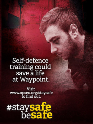 Self-defence training could save a life at Waypoint. (CNW Group/Ontario Public Service Employees Union (OPSEU))