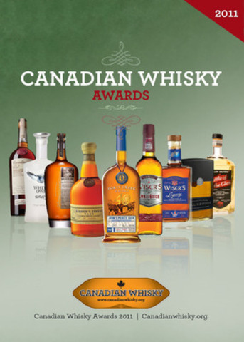 Canadian Whisky of the Year, Forty Creek John's Private Cask is flanked by other top winners at the second annual Canadian Whisky Awards. Gold medalists include Masterson's Rye, Gibson's Finest, Wiser's Small Batch and Wiser's Legacy. Canadian Club, White Owl Whisky, Collingwood, and Glenora each earned prestigious Awards of Excellence. (CNW Group/Canadian Whisky Awards)