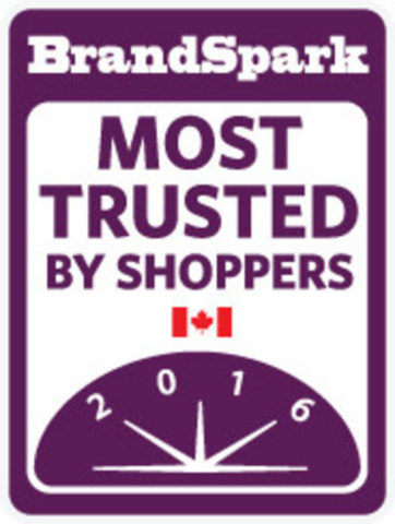 2016 BrandSpark Most Trusted Award (CNW Group/BrandSpark International)
