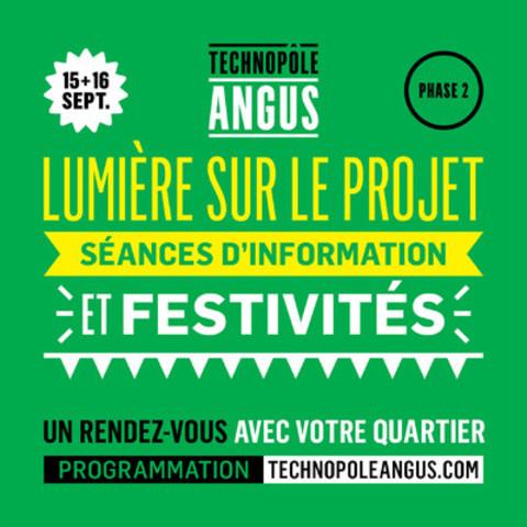 Technopôle Angus - Lumière sur le projet (Groupe CNW/Technopôle Angus)