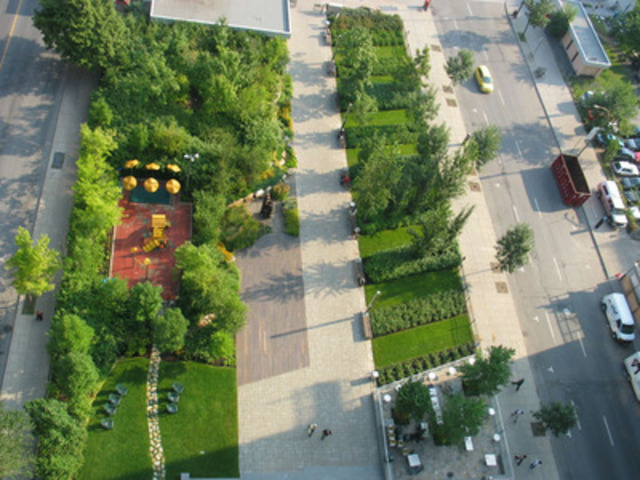 Domtar Garden after. (CNW Group/DOMTAR CORPORATION)
