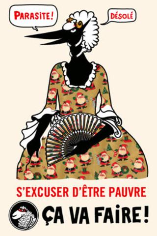 L'une des quatre cartes réalisées en collaboration avec l'illustrateur Clément de Gaulejac. (Groupe CNW/Collectif pour un Québec sans pauvreté)