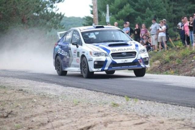 Subaru mène la course au championnat des constructeurs de la saison CRC (Groupe CNW/Subaru Canada Inc.)