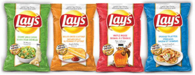 Canadians Are Invited To TRY & VOTE for Canada's Next Great Potato Chip Flavour (CNW Group/PEPSICO CANADA)