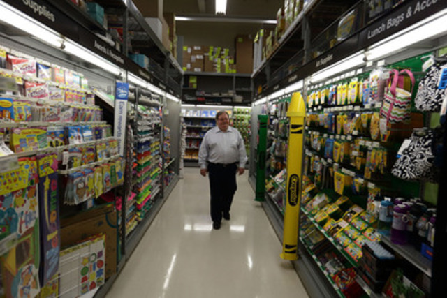 Steve Matyas, president of Staples Canada, visits a location in Burnaby, BC, July 8, as part of a national tour to help Canada's Back-to-School leader prepare for the build-up leading up to the first day of school. (CNW Group/Staples Canada Inc.)