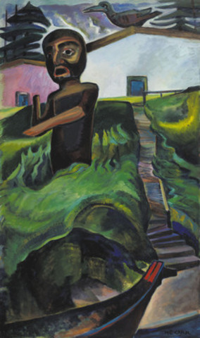 The Crazy Stair (The Crooked Staircase) by Emily Carr earned $3.39 million setting multiple auction records: the most ever paid at auction for an Emily Carr painting, the most achieved for the work of a Canadian female artist and the fourth most valuable piece ever sold in Canadian art auction history. (CNW Group/Heffel Fine Art Auction House)