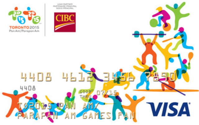 Lead Partner CIBC introduces a special Games prepaid CIBC Pan Am/Parapan Am Visa Gift Cards (CNW Group/Canadian Imperial Bank of Commerce)