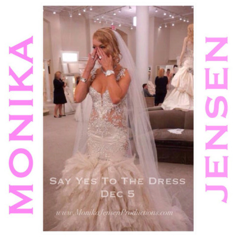 "Celebrity artist Monika Jensen debuts on TLC's ""Say Yes To The Dress"" Dec 5. It's no surprise her popularity in the media is buzzing …being the exclusive artist at The Oscars and now appearing on a new hit TV series airing in 2015, art collectors can't buy her art fast enough. (CNW Group/Monika Jensen Productions)"