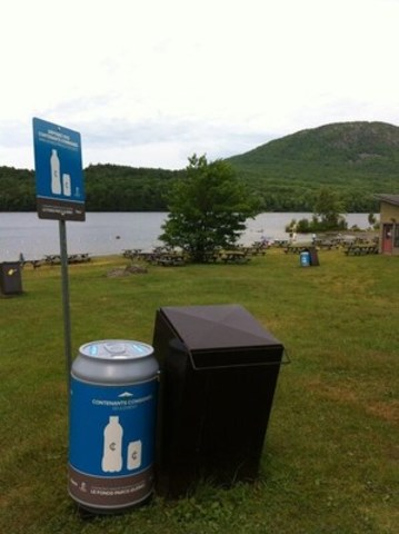 Consignéco and the Sépaq: 160,000 empties show their worth. Many more to come, all 100% recycled. (CNW Group/Société des établissements de plein air du Québec)