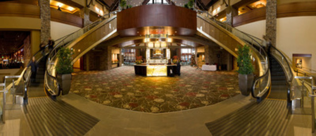 River Rock Casino Resort is celebrating its 10th anniversary during the month of June (2014) and highlighting some of its unique features including Canada's first curved escalators which can be found in the main lobby of the resort. (CNW Group/River Rock Casino Resort)