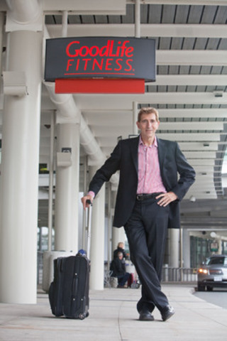 GoodLife Founder and CEO David 'Patch' Patchell-Evans lands at Toronto Pearson to launch the newest GoodLife Fitness Club (CNW Group/GoodLife Fitness)
