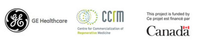 GE Healthcare, Centre pour la commercialisation de la médecine régénératrice (CCRM), Agence fédérale de développement économique pour le Sud de l'Ontario (FedDev Ontario) (Groupe CNW/GE Healthcare)