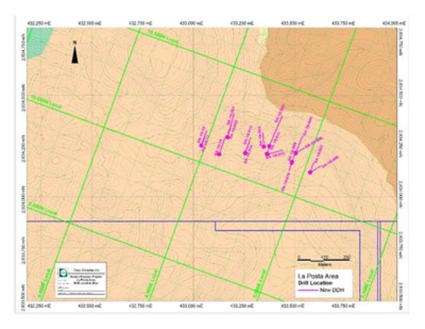 Sandra Escobar Project – Southeastern Region – Phase-I Drilling Program Location Map (CNW Group/Orex Minerals Inc.)