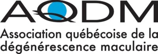 Logo : Association québécoise de la dégénérescence maculaire (Groupe CNW/Association québécoise de la dégénérescence maculaire)