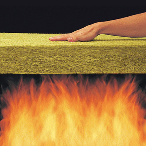 Roxul mineral wool insulation resists temperatures up to approximately 1177° C (2150°F) and when directly exposed to fire, it will not develop smoke, or promote flame spread. It can act as a fire barrier delaying the spread of fire from room to room allowing for a few additional moments to safely escape. (CNW Group/Roxul Inc.)