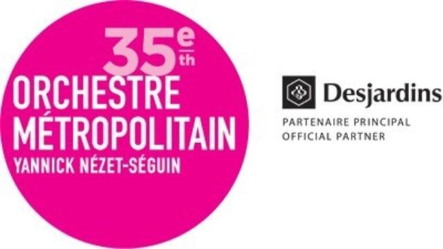 Logo : 35e Orchestre Métropolitain, Yannick Nézet-Séguin (Groupe CNW/Orchestre Métropolitain)