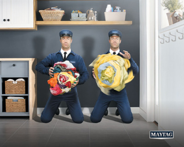 "Maytag introduces the new Maytag Man bringing ""What's Inside Matters"" motto to life. Iconic figure embodies brand pillars of dependability, reliability, and power. (CNW Group/Maytag)"