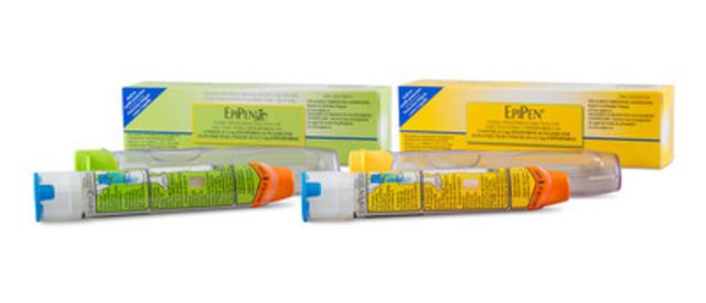 Auto-injecteurs EpiPen(MD) et EpiPen(MD) Jr (épinéphrine) (Groupe CNW/Pfizer Canada Inc.)