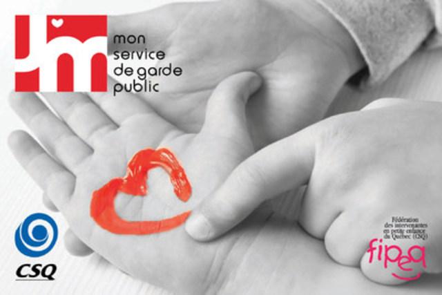 Des valentins pour le ministre Sébastien Proulx (Groupe CNW/CSQ)