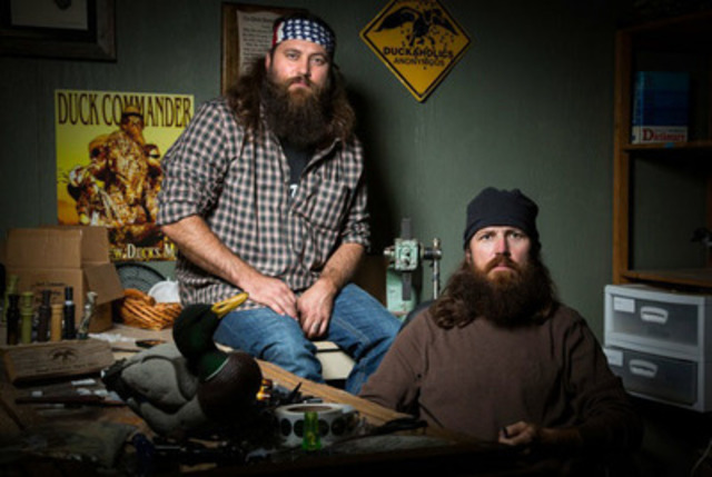 Willie and Jase Robertson, from the cast of Duck Dynasty, pictured, will be appearing at Boots and Hearts Music Festival, August 1 - 4, 2013 in Bowmanville, Ontario. They join previously announced headliners Jason Aldean, Rascal Flatts, Miranda Lambert, Dierks Bentley, The Band Perry, Dean Brody and 35 other artists. www.bootsandhearts.com (CNW Group/Republic Live 2013 Inc)