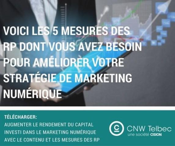 Voici les 5 mesures des RP dont vous avez besoin pour améliorer votre stratégie de marketing numérique (Groupe CNW/Groupe CNW Ltée)