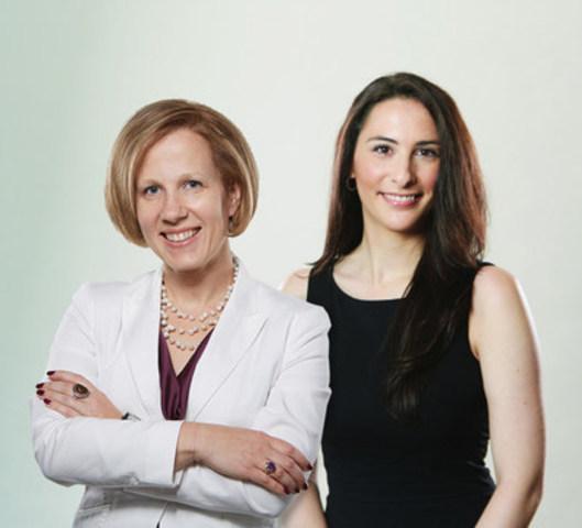 Le partenariat de Corby avec Femmes d'influence a été lancé par deux femmes de l'entreprise (à gauche: Anna Seymour, directrice de la planification stratégique, idées & innovation; à droite: Amandine Robin, directrice des communications, relations publiques et RSE) qui ont reconnu que les femmes sont un groupe majeur de consommatrices et employées aux besoins distincts. (Groupe CNW/Corby Spiritueux et vins Communications)