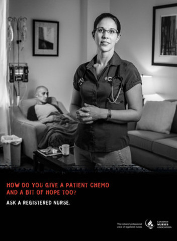 The Canadian Nurses Association (CNA) has launched a national public awareness campaign to promote the role of registered nurses (RNs) in Canada's health-care system and raise awareness about the depth and complexity of the work they do. (CNW Group/Canadian Nurses Association)
