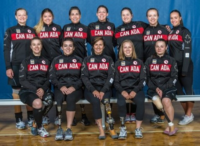Volleyball Canada and the Canadian Paralympic Committee are proud to announce the 12 athletes nominated for selection to Team Canada to make history in women's sitting volleyball at the Rio 2016 Paralympic Games this September. Photo: Rob Hislop / Canadian Paralympic Committee (CNW Group/Canadian Paralympic Committee (CPC))