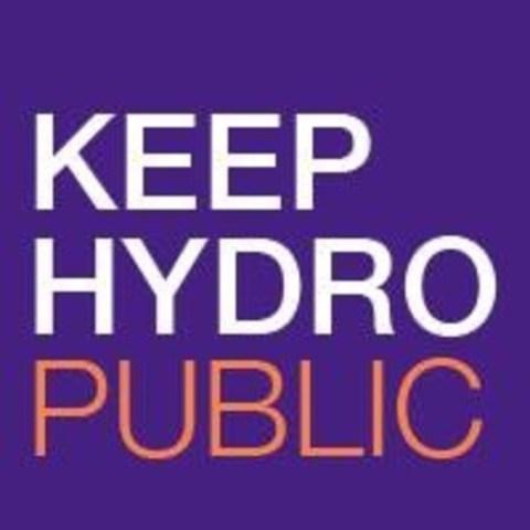 Keep Hydro Public (CNW Group/Keep Hydro Public)