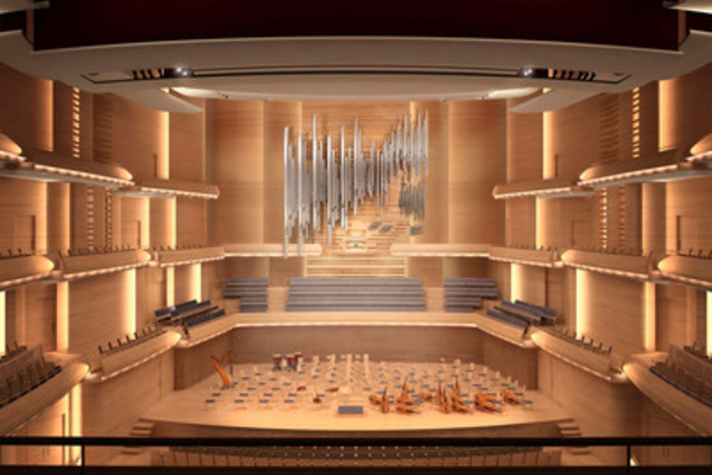 Visual design of the OSM's organ by Casavant Frères in collaboration with Diamond-Schmitt + ÆDIFICA (CNW Group/ORCHESTRE SYMPHONIQUE DE MONTREAL)