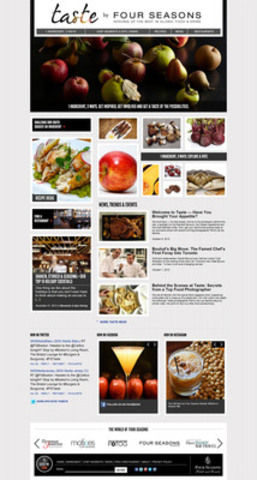 Taste, a new epicurean website created by Four Seasons Hotels and Resorts, launched today, highlighting ingredients, experiences, restaurants and bars. (CNW Group/Four Seasons Hotels and Resorts)