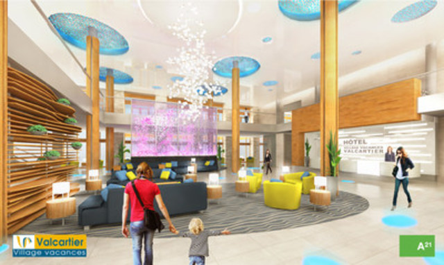 Entrance to the 4-star Valcartier Vacation Village hotel. (CNW Group/Valcartier Vacation Village)