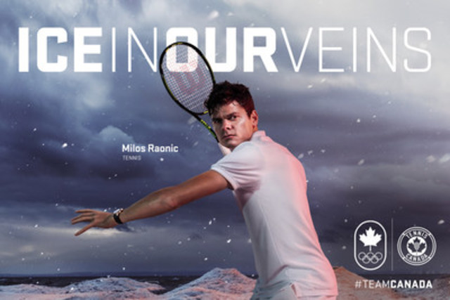 Milos Raonic, tennis (Thornhill, Ont.) (Groupe CNW/Canadian Olympic Committee)
