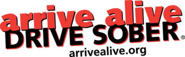 arrive alive DRIVE SOBER - arrivealive.org (CNW Group/arrive alive DRIVE SOBER)