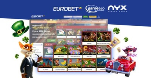 NYX Strengthens Market Position with Eurobet in Italy (CNW Group/NYX Gaming Group Limited)