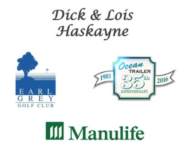 Dick and Lois Haskayne; Earl Grey Golf Club; Manulife; Ocean Trailer Alberta Limited (CNW Group/Cystic Fibrosis Canada)