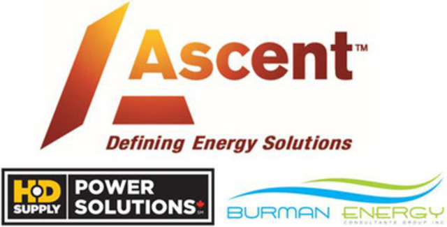 Ascent Solutions Inc. is pleased to announce a new partnership with HD Utilities and Burman Energy for the provision of LED lighting conversions to Municipalities and ICI customers. (CNW Group/Ascent Solutions Inc.)
