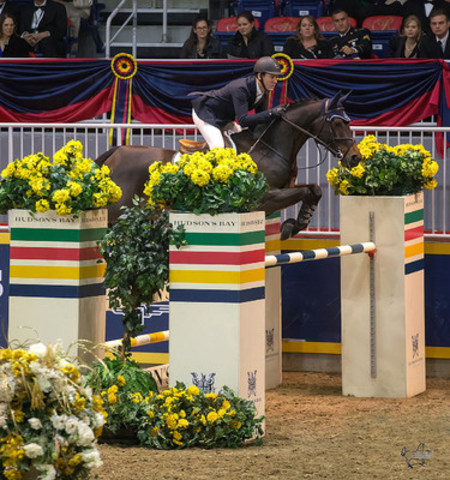 Two-time Olympic team gold medalist Mclain Ward produced the fastest four fault performance to take third riding HH Carlos Z in the $50,000 Weston Canadian Open. (CNW Group/Royal Agricultural Winter Fair)