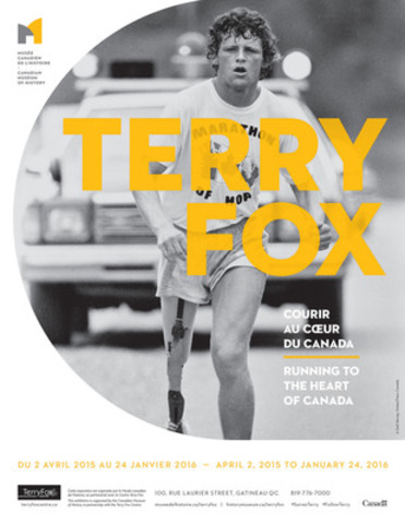 On the 35th anniversary of Terry Fox?'s heroic Marathon of Hope, relive his 143-day, cross-Canada run with this unique exhibition. Explore the deep affection Canadians have for Terry and see how his legacy continues to inspire us. Developed in partnership with the Terry Fox Centre. (CNW Group/Canadian Museum of History)
