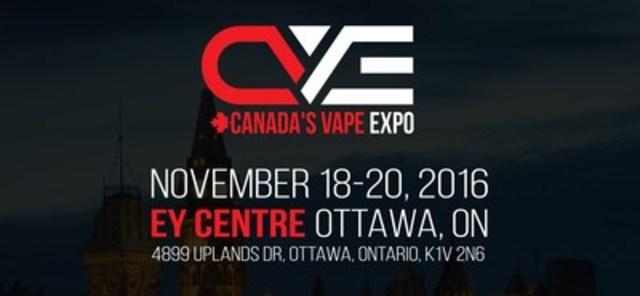 Canada's Vape Expo Ottawa November 18-20 (CNW Group/Canada's Vape Expo)