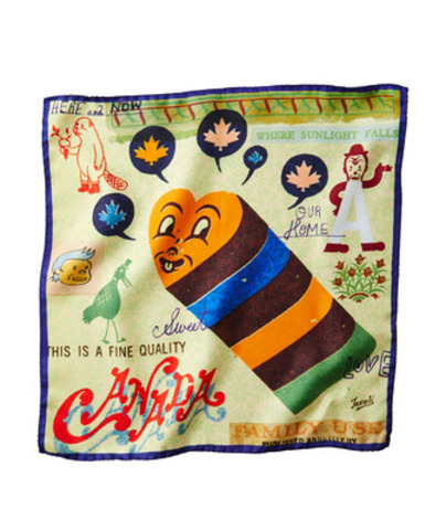 The Canada Pocket Square ($95) is featured by Gary Taxali exclusively for Harry Rosen. This fall the premium menswear retailer teams up with Canadian artist Gary Taxali to introduce a new collection of five special-edition pocket squares celebrating the colourful character of Canada and featured cities - Toronto, Montreal, Calgary and Vancouver. Available in-store or online at www.harryrosen.com on November 2, 2013. (CNW Group/Harry Rosen Inc.)