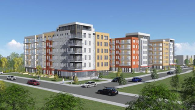 District Concorde, un partenariat Fonds immobilier de solidarité FTQ et Trigone (Groupe CNW/Fonds immobilier de solidarité FTQ)