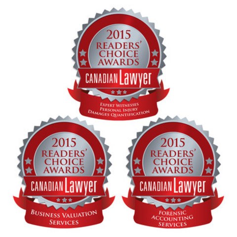 Collins Barrow wins three Canadian Lawyers Readers' Choice Awards (CNW Group/Collins Barrow National Cooperative Incorporated)