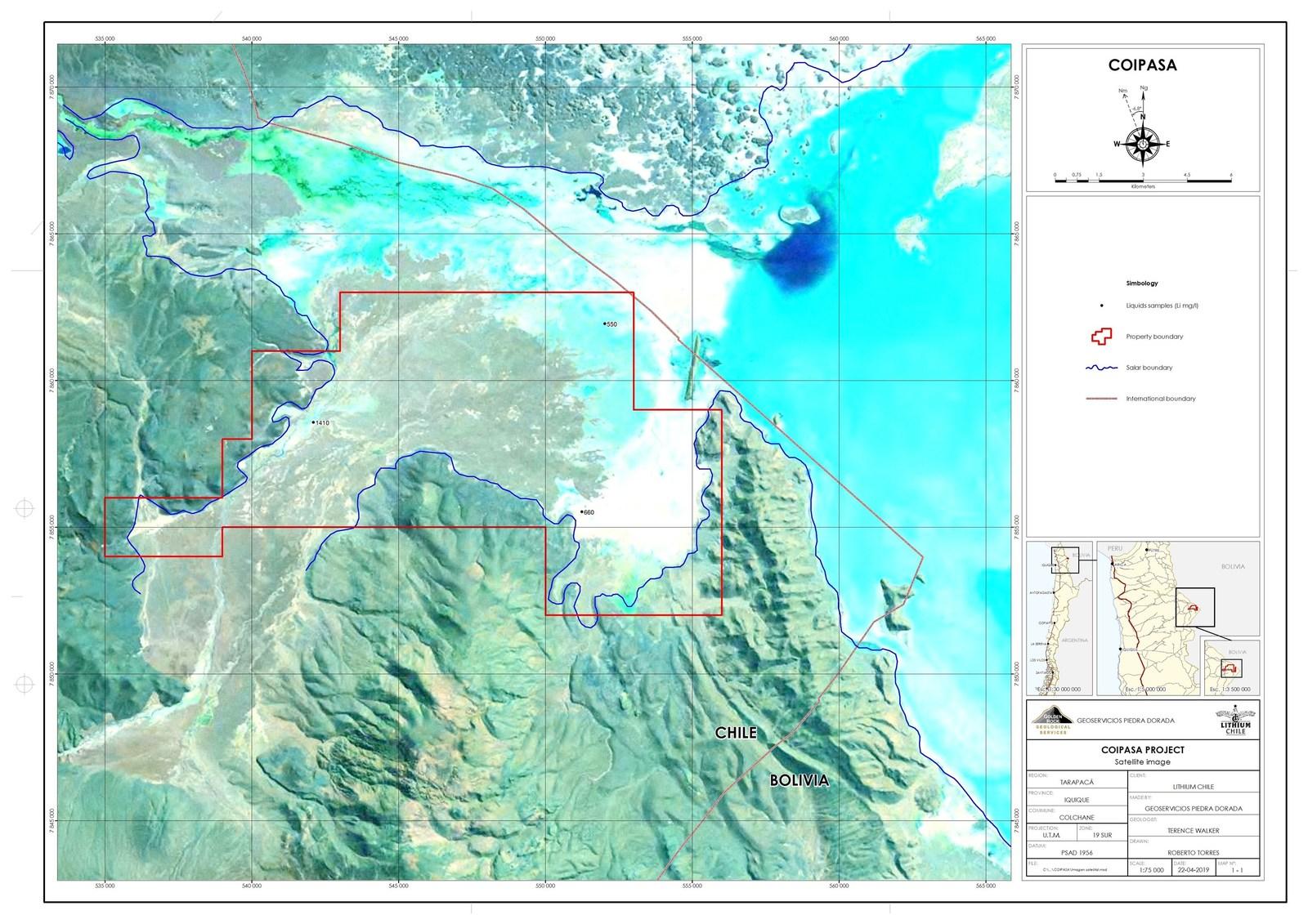 Coipasa Satellite Image