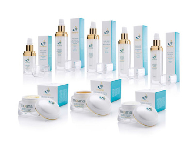 Moana Skincare, rich in New Zealand Marine Glycans from Red Seaweed, Comes to Canada (CNW Group/Potter Communications)